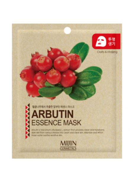 Mijin Cosmetics Arbutin Essence Mask  Антивозрастная тканевая маска с арбутином