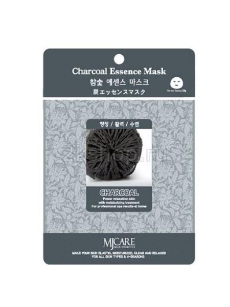 Mijin Charcoal Essence Mask Маска тканевая древесный уголь