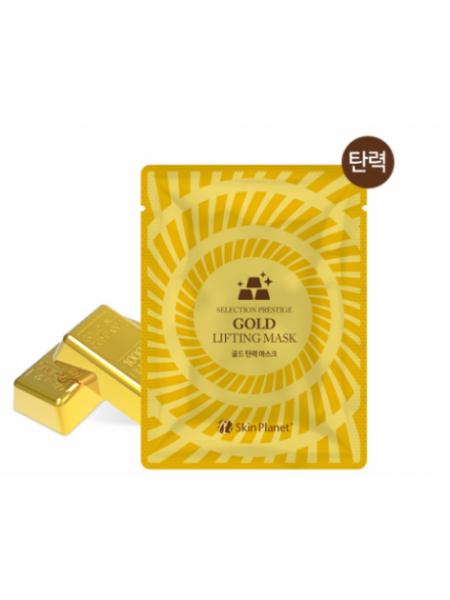Mijin Skin Planet Gold Lifting Mask  Антивозрастная тканевая маска с золотом и эффектом лифтинга