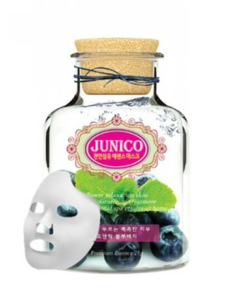 Mijin Junico Blueberry Essence Mask Увлажняющая тканевая маска с экстрактом черники