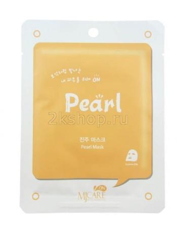 Mijin  Pearl mask pack  Маска тканевая с экстрактом жемчуга
