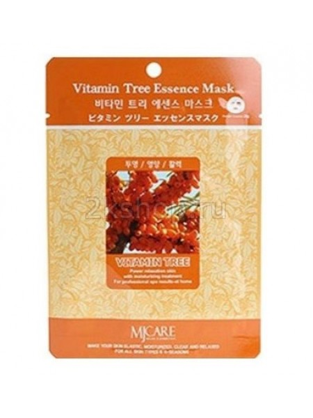 Mijin Vitamin Tree Essence Mask Маска тканевая облепиха