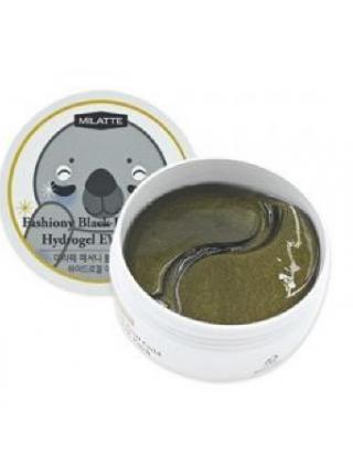 Milatte Гидрогелевые патчи для кожи вокруг глаз с черным жемчугом и золотом Fashiony Black Pearl Gold Hydrogel Eye Patch