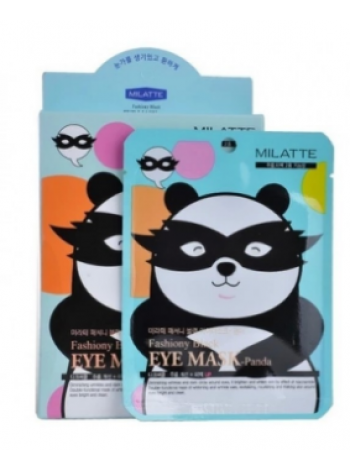 Milatte Fashiony Black Eye Mask Panda Маска от морщин вокруг глаз Панда