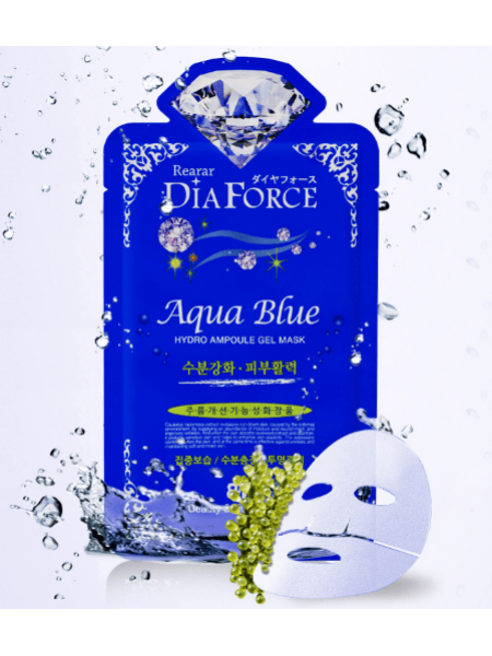 Гидрогелевая маска для лица с  морскими водорослями Rearar  Dia Force Aqua Hydro Ampoule Gel Mask