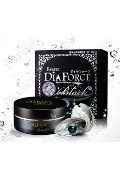 Miskin Rearar Dia Force BLACK Hydrogel Eye Patch  Гидрогелевые патчи с черным жемчугом и золотом