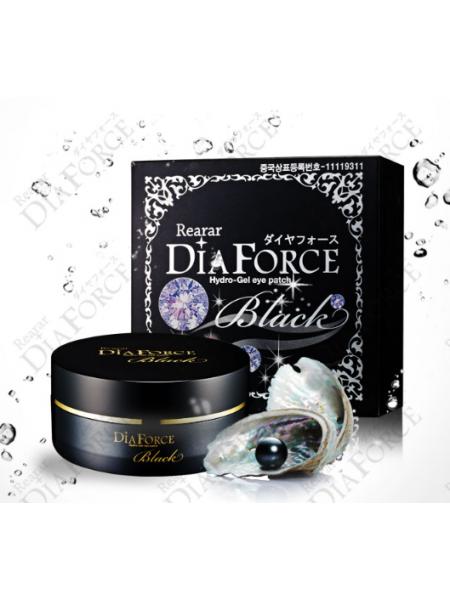 Miskin Антивозрастные гидрогелевые патчи с черным жемчугом и золотом Dia Force BLACK Hydrogel Eye Patch (60шт)