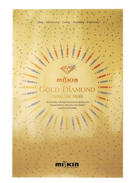 Гидрогелевая маска с коллоидным золотом и алмазной пудрой Miskin Gold Diamond Hydro Gel Mask