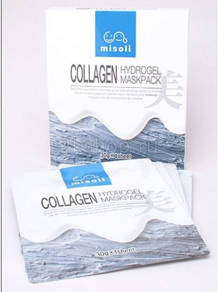 Гидрогелевая маска для лица с коллагеном Misoli Collagen Hydrogel Mask Pack