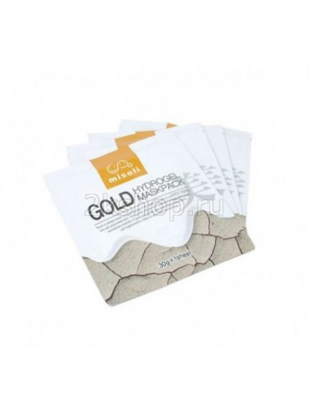 Гидрогелевая маска для лица с золотом Misoli Gold Hydrogel Mask Pack