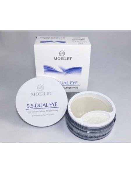 MOELLET 5,5  Dual Eye Премиальные гидрогелевые патчи для глаз с кремовой сывороткой