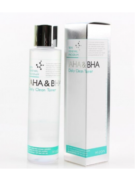 Mizon AHA&BHA Daily Clean Toner Пилинг -тонер с AHA и BHA кислотами