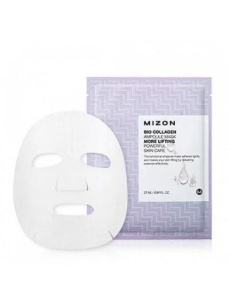 Mizon Bio Collagen Ampoule Mask Лифтинг-маска с коллагеном из биоцеллюлезы