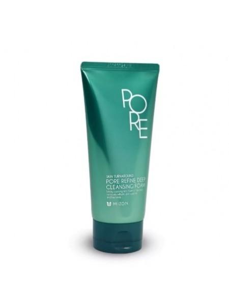 Очищающая пенка для жирной кожи   Mizon pore refine deep cleansing foam
