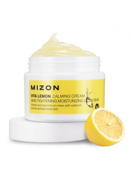 Mizon Vita Lemon Calming Cream Лимонный успокаивающий крем с витамином C