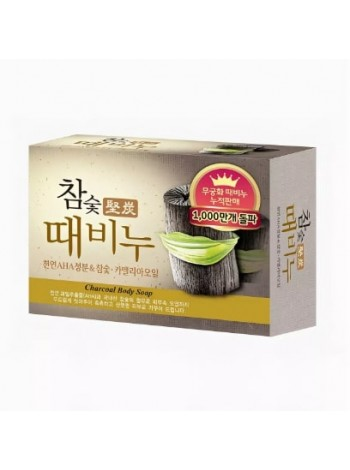 Mukunghwa Hardwood Charcoal Scrub Soap   Мыло-скраб древесный уголь