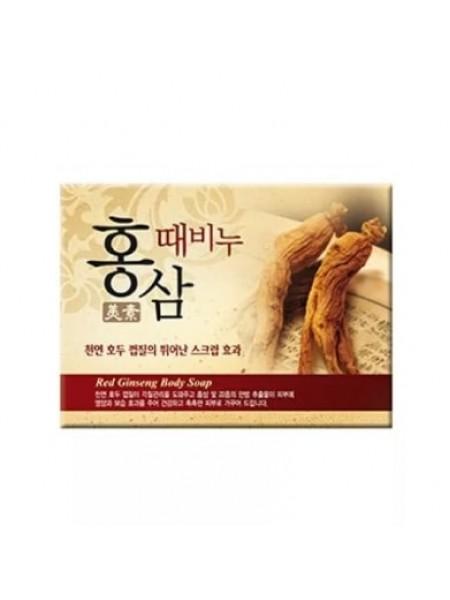 Мыло-скраб красный женьшень Mukunghwa Miso Red Ginseng Scrub Soap