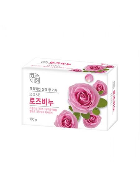 Мыло для сияния кожи с дамасской розой Mukunghwa Rose Beauty Soap