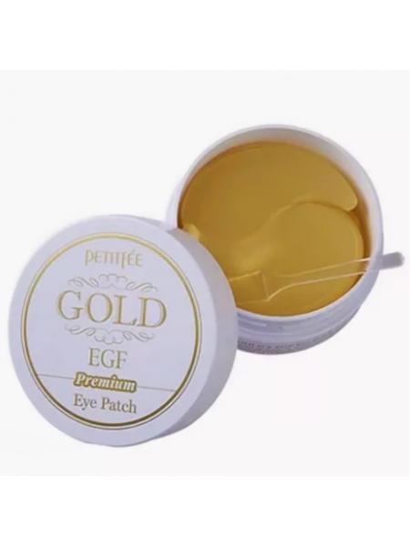 Petitfee Hydro Gel  Gold & EGF Eye Patch Гидрогелевые патчи с золотом и EGF (60 шт.)