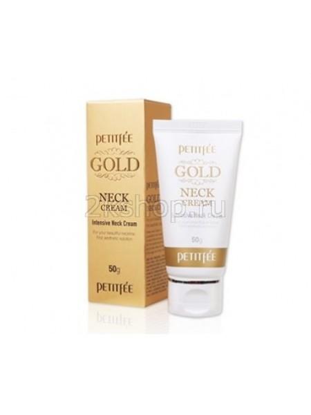 Petitfee Gold Neck Cream  Крем для шеи антивозрастной с золотом