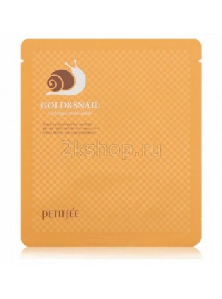 Petitfee Black Pearl and Gold Hydrogel Mask Pack  Гидрогелевая маска для лица c золотом и черным жемчугом