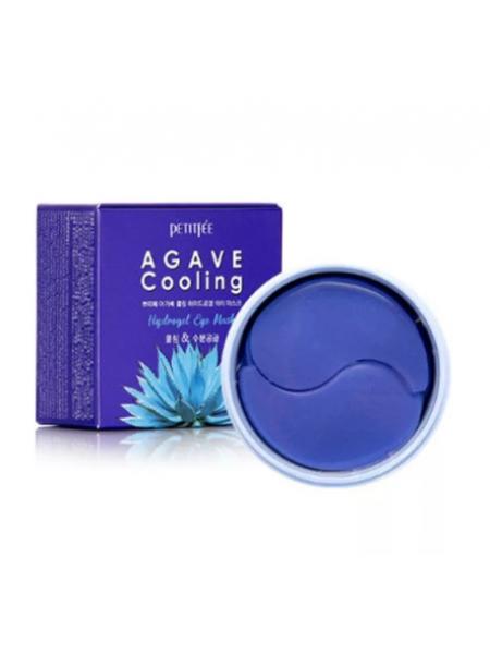 Petitfee Охлаждающие гидрогелевые патчи для век с экстрактом агавы Agave cooling hydrogel eye patch  60шт