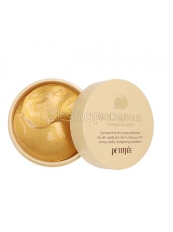 Petitfee Hydro Gel Eye Patch Gold & Snail Гидрогелевые патчи с золотом и экстрактом улитки