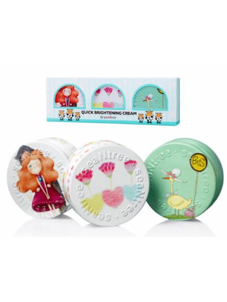 SEANTREE Quick Brightening Cream 3 Set (35g*3ea) (Design 2) Набор кремов для лица Сияние