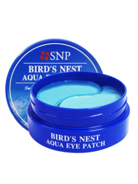 SNP Bird's Nest Aqua Eye Patch  Гидрогелевые патчи под глаза с экстрактом ласточкина гнезда
