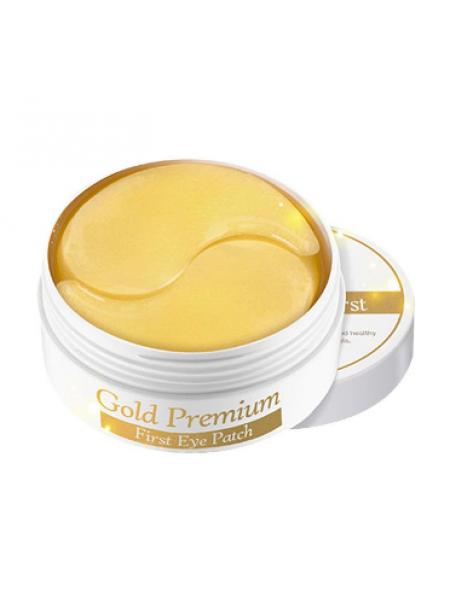 SECRET KEY Gold Premium гидрогелевые патчи для глаз с золотом Gold Premium First Eye Patch 60 шт