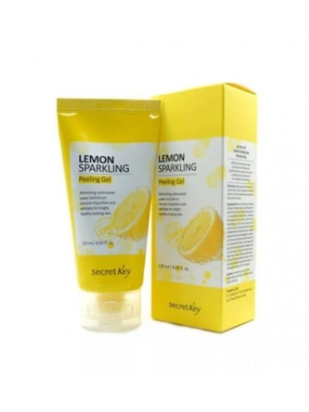 Лимонная пилинг скатка Secret Key lemon sparkling peeling gel