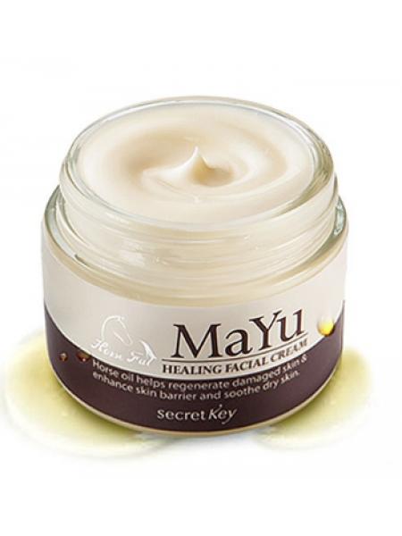 Питательный крем для лица с лошадиным жиром Secret Key Mayu Healing Facial Cream