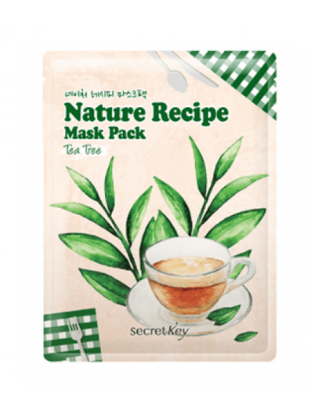 Secret Key Nature Recipe Mask Pack Tea Tree   Маска тканевая c  чайным деревом