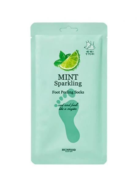 Skinfood Mint Sparkling Foot Peeling Socks Носочки-пилинг с экстрактом мяты
