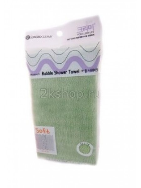 Sung Bo Cleamy CLEAN&BEAUTY Bubble Shower Towel Мочалка для душа (28х100)