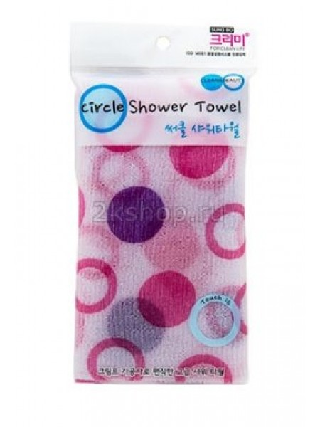 Мочалка для душа (28х95) Sung Bo Cleamy CLEAN&BEAUTY Circle Shower Towel