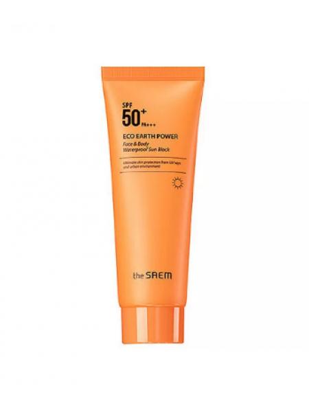 The Saem Eco Earth Power Face & Body Waterproof Sun Block N  SPF50+ PA+++  Солнцезащитный водостойкий крем для лица и тела SPF50+ PA+++