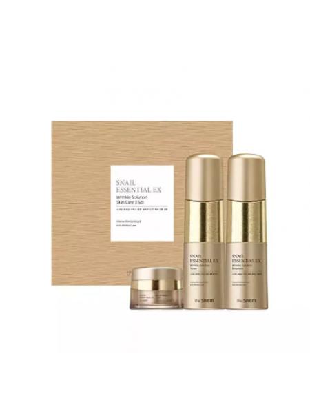 The Saem Snail Essential EX Wrinkle Solution Skin Care 2 Set Набор уходовый антивозрастной 150мл*150мл*30мл