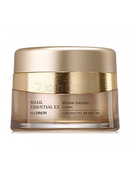 The Saem Snail Essential EX Wrinkle Solution Cream Крем антивозрастной
