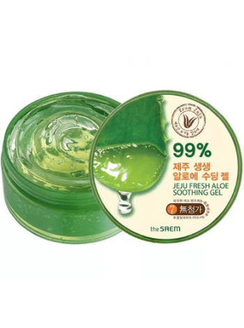 The Saem Jeju Fresh Aloe Soothing Gel 99% Универсальный алоэ гель