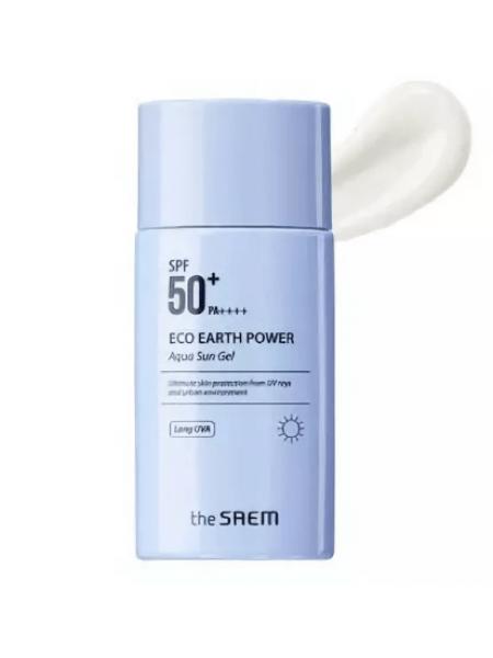 The Saem Eco Earth Power Aqua Sun Gel  SPF50 PA++++ Крем-гель  солнцезащитный