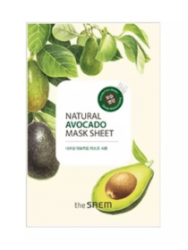 The Saem Natural Avocado Mask Sheet Mask Sheet Маска тканевая с экстрактом авокадо