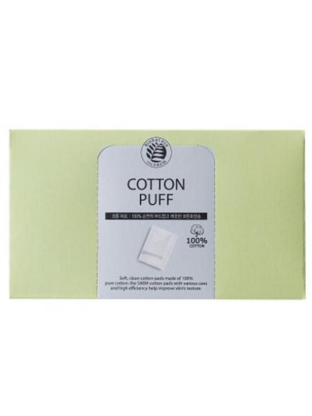 The Saem Cotton Puff(new)   Спонжи косметические из 100% хлопка 80шт