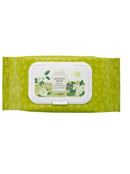The Saem  Healing Tea Garden Green Tea Cleansing Tissue Салфетки очищающие с экстрактом зеленого чая
