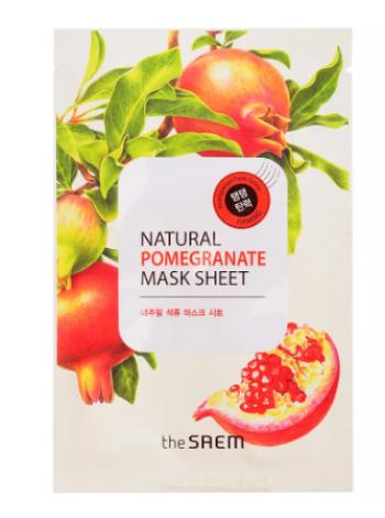 The Saem Natural Pomegranate Mask Sheet Маска тканевая  с экстрактом граната