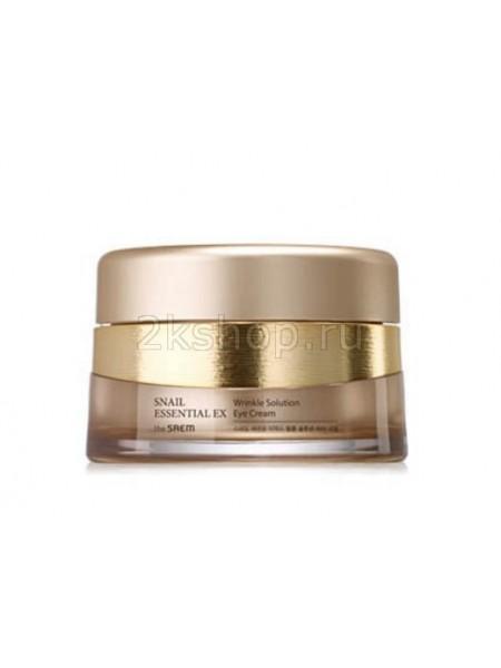 Антивозрастной крем для глаз с улиткой The Saem Snail Essential EX Wrinkle Solution Eye Cream