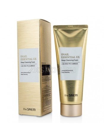 The Saem Snail Essential EX Wrinkle Solution Deep Cleansing Foam Пенка для умывания