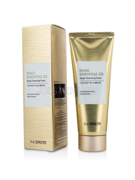 Пенка для умывания улиточная The Saem Snail Essential EX Wrinkle Solution Deep Cleansing Foam