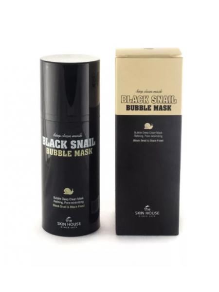 The Skin House Black Snail Bubble Mask Пузырьковая маска с муцином черной улитки и углем