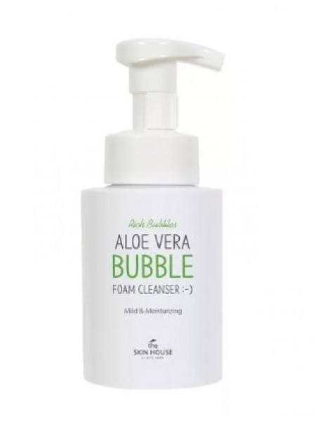 The Skin House Aloe Vera bubble foam cleanser  Очищающая кислородная пенка для лица с экстрактом алоэ